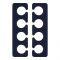 QVS (82-10-1753) Гелевые разделители пальцев для педикюра (1 пара) Вид1