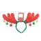 CAA716950 ободки, декорир. рогами оленя с колокольчиками, разм.38x26x3cm, упак. в п/пакет Вид1