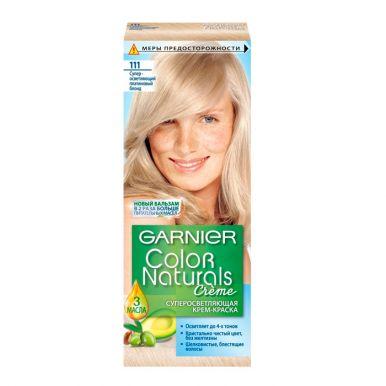 Garnier стойкая питательная крем-краска для волос Color Naturals, тон 111, Платиновый блонд, 110 мл