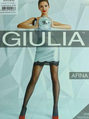 Колготки женские фантазийные Giulia Afina 03, цвет: nero, размер: 3/m