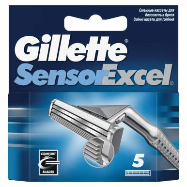 Gillette сменная кассета Sensor Excel, 5 шт