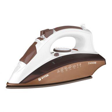 Утюг  Vitek 1209 2400 Вт, подошва Ceramic UltraCare, автоотключение, верт. отпаривание