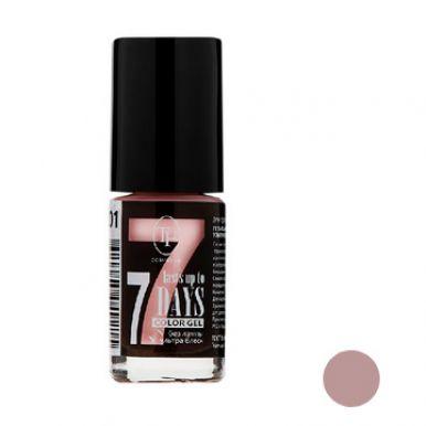 """TF Лак для ногтей COLOR GEL, тон 201 """"Light pink/Нежно-розовый"""", 8мл"""