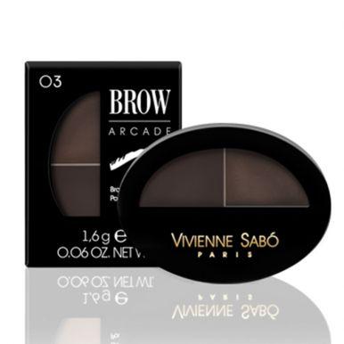 Vivienne Sabo тени для бровей двойные Eyebrow shadow Duo, тон 03, цвет: брюнет, 1,6 г