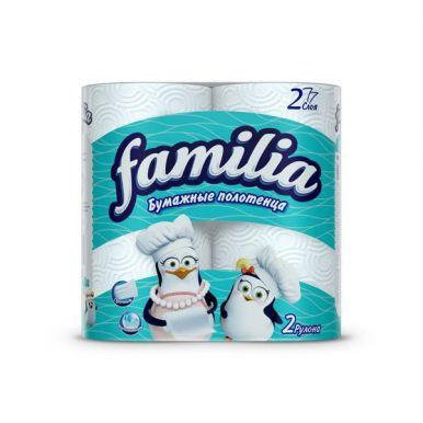 Полотенца Familia 2рул 2сл белые/14