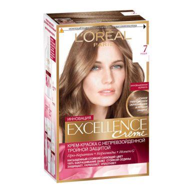 Excellence краска для волос, тон 7, цвет: русый