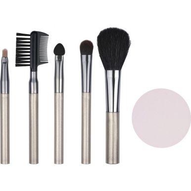 QVS Набор аксессуаров для макияжа (кисти: для румян, теней, макияжа губ; аппликатор для теней; щеточ