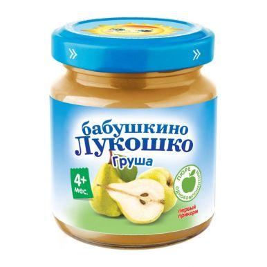 Дет пит Бабушкино лукошко Пюре грушевое б/сахара с 3,5мес 100г ст/б; 6