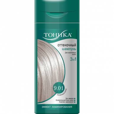 ТОНИКА Оттеночный шампунь 9.01 Платиновый блонд 150мл
