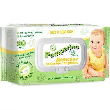 PAMPERINO №80 Салфетки влажные детские б/отдушки 48734