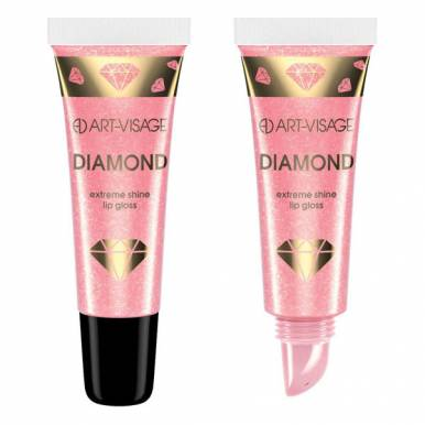 АРТ-ВИЗ  Блеск для губ Сияющий +Diamond в тубе 53 розовый агат