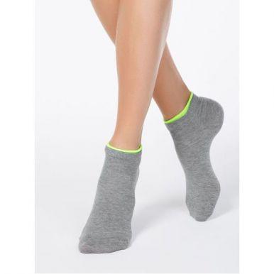 Conte носки женские хлопковые Ce Active декор, резинка 12с-32Сп, размер: 23, 035, серый