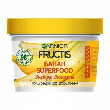 FRUCTIS Маска SUPERFOOD БАНАН д/сух. вол.390ml