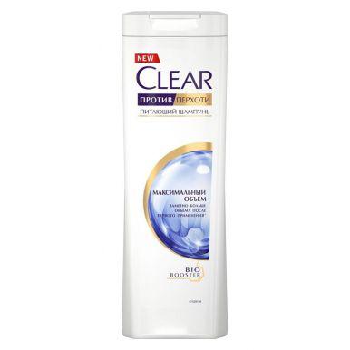 CLEAR NUTRIUM Шампунь против перхоти Максимальная объем для тонких волос, 400 мл