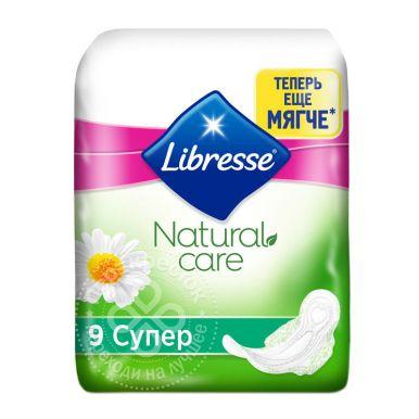 LIBRESSE прокладки Natural Care Ultra Super 9шт