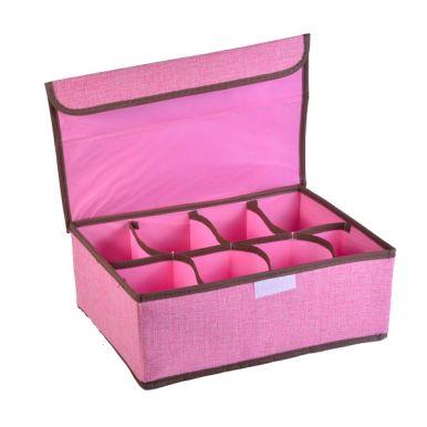 Коробка для хранения 33х22х11.5см с крышкой 8 ячеек микс арт.20119-0094