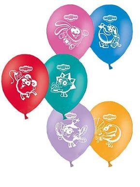"""1103-0093 Надувной шарик с рисунком Смешарики """"12""""/50"""