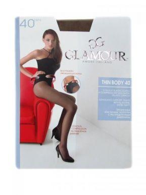 Glamour колготки THIN BODY 40 р. 4-L цвет CAPPUCCINO