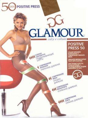 Glamour колготки POSITIVE PRESS 50 р. XL цвет GLACE