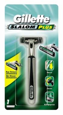 GILLETTE станок SLALOM PLUS Push Clean + 1 кассета (687/148/418)