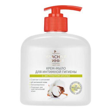 Жидкое мыло для интимной гигиены Красная Линия Гипоаллергенное Хлопок 250мл