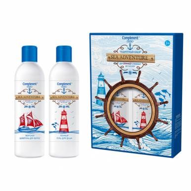 Compliment Набор подарочный Kids №1160 Sea Adventure (Пенный гель д/душа, морской шампунь, магнитная
