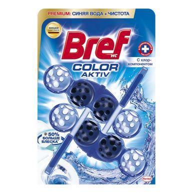 BREF Средство чистящее для унитаза color-aktiv с хлор-компонентом 2Х50Г