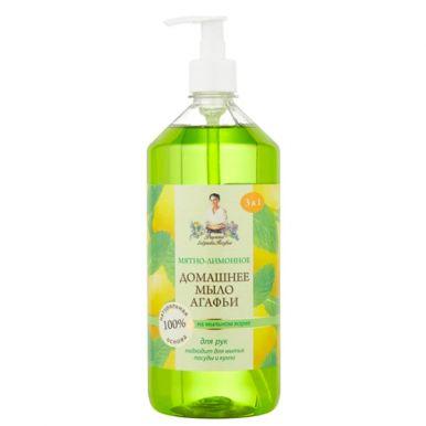 Домашнее мыло Агафьи Мятно-лимонное, 1 л, артикул 460704031