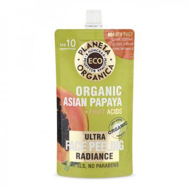 PLANETA ORGANICA Пилинг для сияния кожи лица Eco Organic asian papaya 100мл