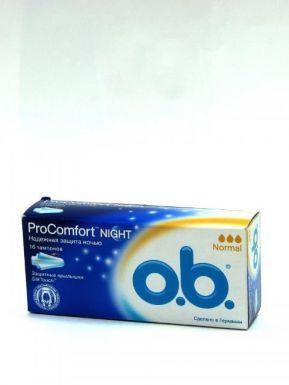 J&J O.B. ProComfort Night 16 normal тампоны