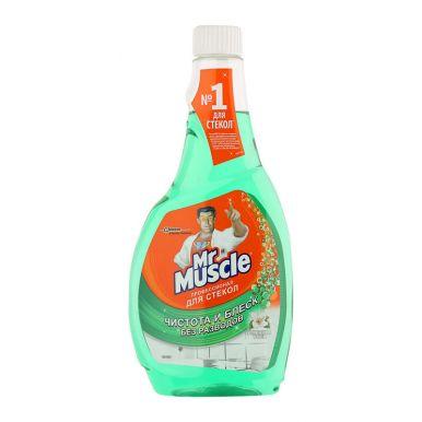 МИСТЕР МУСКУЛ для мытья стекол 500мл запаска с нашатырем