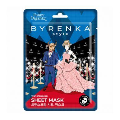 Funny Organix  Преображающая тканевая маска для лица  25 г