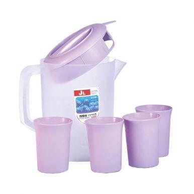 Набор посуды 5пр: кувшин 2.75л+4 стакана микс арт.MASP8680