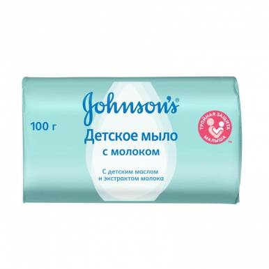 J&J JOHNSONS BABY крем-мыло 100г Молоко