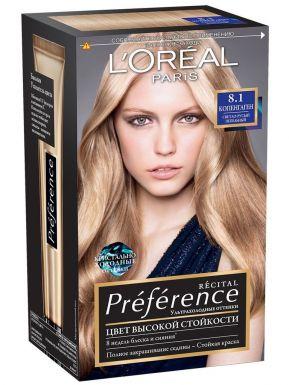 Preference Recital краска для волос, тон 8,1 Копенгаген, цвет: Светло-русый пепельный