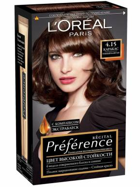 PREFERENCE Recital краска для волос №4,15 Каракас Темный каштан