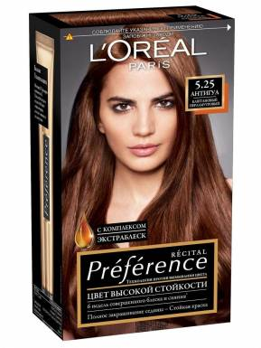 Preference Recital краска для волос, тон 5.25 Антигуа, цвет: Каштановый перламутр