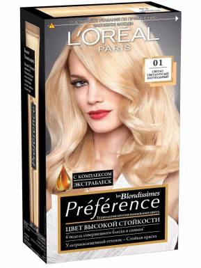 PREFERENCE Recital Блондиссим краска для волос №01 Св-русый натур.