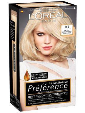 PREFERENCE Recital Блондиссим краска для волос №03 Св-рус пепельный