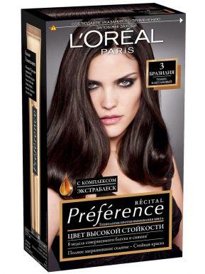 Preference Recital краска для волос, тон 3, цвет: тёмно каштановый
