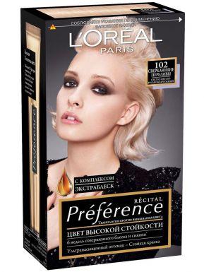 PREFERENCE Recital краска для волос №102 Сверкающие Переливы