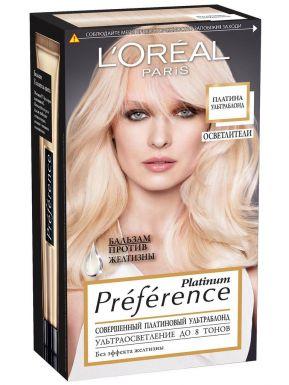 Loreal Paris стойкая краска для волос, тон Preference, Платина Ультраблонд, 8 тонов осветления