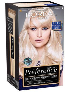 PREFERENCE Recital краска для волос №11.13 Ультраблонд беж._