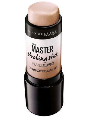 Maybelline Хайлайтер-стик Master Strobing для сияния кожи, тон 200, Бежевый шампань, 9 мл
