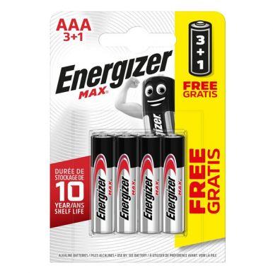 ENERGIZER Батарейка MAX E92 / AAA / LR03 упак. 3+1 шт