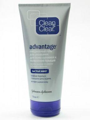 J&J Clean&Clear Advantage гель для умывания от прыщей, 150 мл