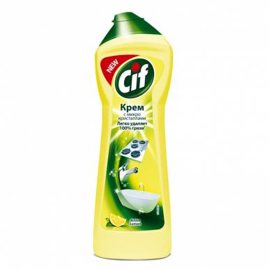 CIF Крем чист. 250мл Lemon/Active Lemon(желтый)