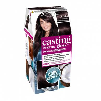 Casting Crem Gloss стойкая краска-уход для волос, тон 3102, цвет: холодный темно-каштановый