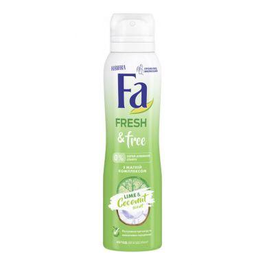 Fa Дезодорант-аэрозоль Fresh & Free Лайм-Кокос 150мл