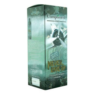Compliment men Подарочный набор Never give up   (Шампунь&Гель для душа, 250мл + Гель для бритья, 80м